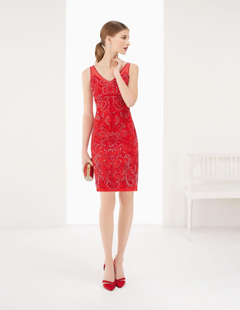 9G202 Vestido de Fiesta Couture Club