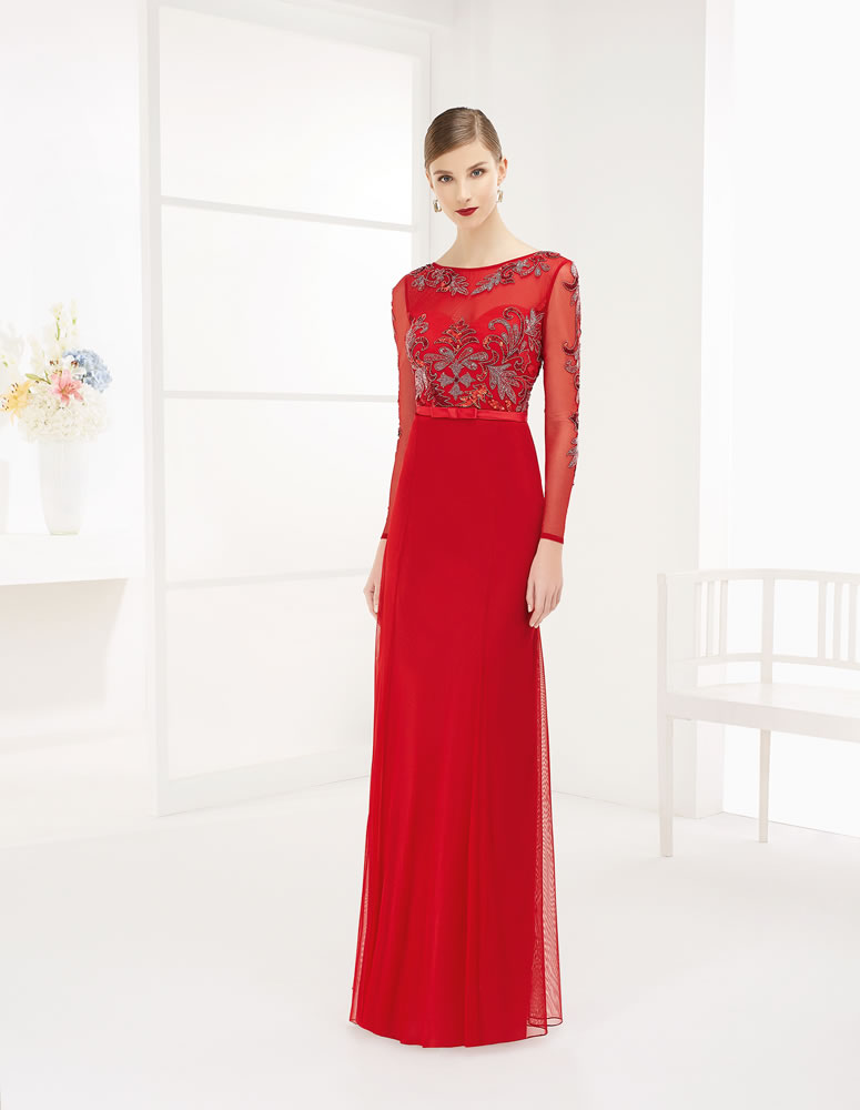 9G285 Vestido de Fiesta Couture Club