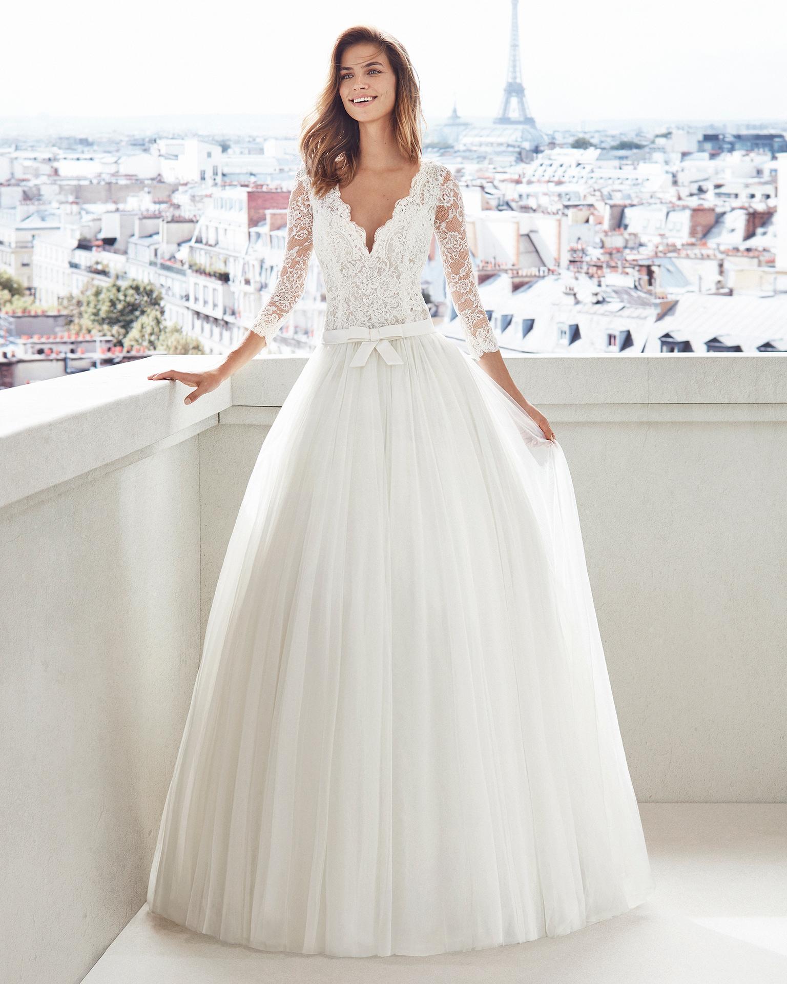 Vestidos de novia 2019 manga larga